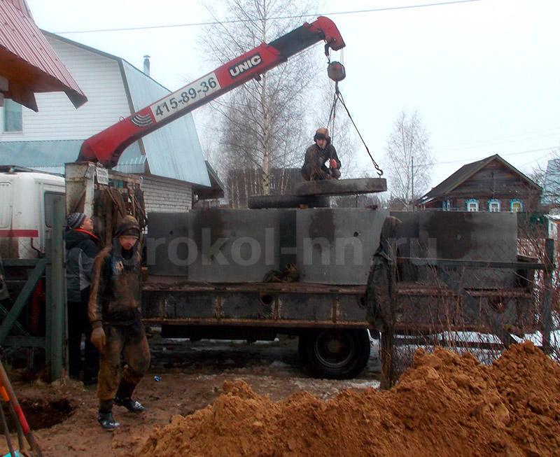 Септик для частного дома из бетонных колец строительство